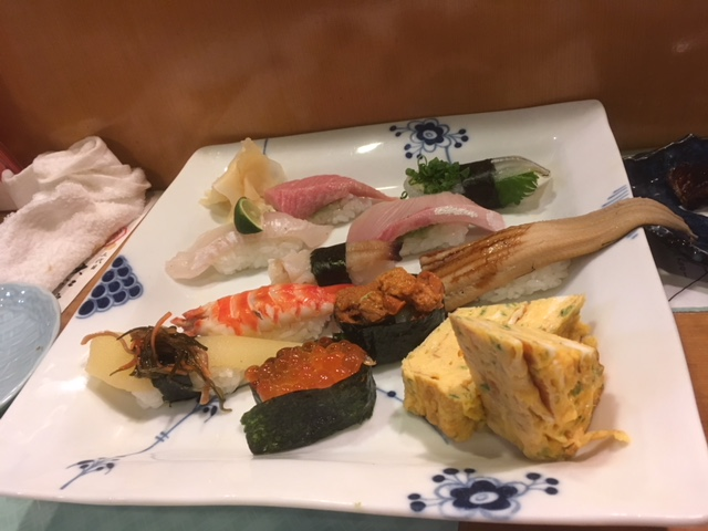 大江戸寿司のおまかせ握り