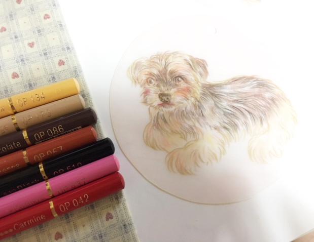 犬のイラストプラ板